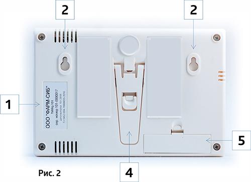 Термогигрометр ТМФЦ-101 вид сзади